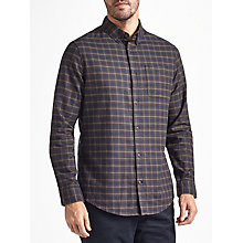 Buy John Lewis Addison Check Shirt, Navy Online at johnlewis.com