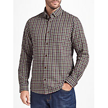 Buy John Lewis Chapman Gingham Soft Flannel Check Shirt, Navy/Multi Online at johnlewis.com
