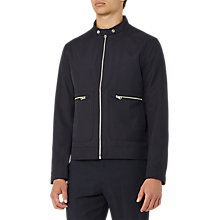 Buy Reiss Yukon Tab Collar Jacket, Navy Online at johnlewis.com