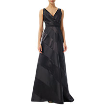 Buy Adrianna Papell Combo Ball Gown, Black Online at johnlewis.com