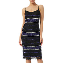 Buy Adrianna Papell Beaded Lace Slip Dress, Black/Multi Online at johnlewis.com