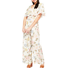 Buy Miss Selfridge Floral Cape Jumpsuit, Multi Online at johnlewis.com