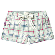 Buy Fat Face Classic Check Pyjama Shorts, Peppermint Online at johnlewis.com