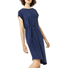 Buy Warehouse Toggle Midi Dress, Navy Online at johnlewis.com