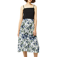 Buy Warehouse Lily Print Midi Skirt, Neutral/Multi Online at johnlewis.com