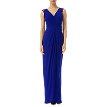 Buy Adrianna Papell Petite Wrap Front Jersey Gown, Neptune Online at johnlewis.com