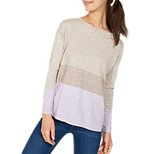 Buy Fat Face Boscombe Colour Block Jumper, Neutral/Multi Online at johnlewis.com