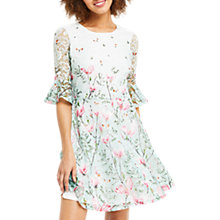 Buy Oasis Magnolia Flute Sleeve Dress, Multi Online at johnlewis.com