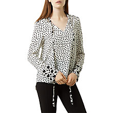 Buy Fenn Wright Manson Isla Print Top, Black/White Online at johnlewis.com