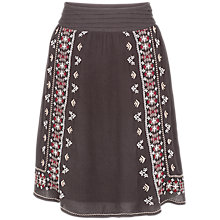 Buy Fat Face India Embroidered Skirt, Phantom Online at johnlewis.com