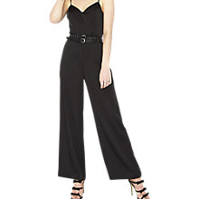 Buy Miss Selfridge Wide Leg Jumpsuit, Black Online at johnlewis.com