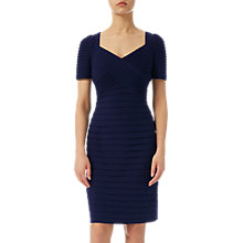 Buy Adrianna Papell Matt Jersey Cross Bodice Dress, Moon Blue Online at johnlewis.com