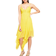 Buy Miss Selfridge Lace Button Maxi Dress, Yellow Online at johnlewis.com
