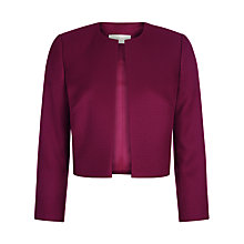 Buy Hobbs Elize Jacket, Magenta Online at johnlewis.com