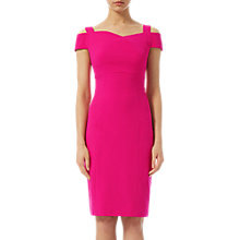 Buy Adrianna Papell Jet Set Sheath Origami Dress, Bright Azaela Online at johnlewis.com