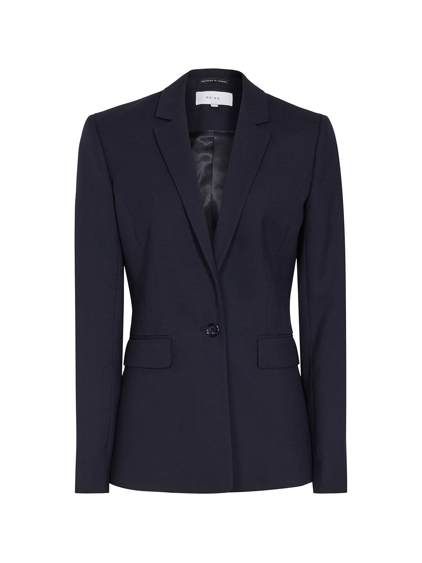 Buy Reiss Faulkner Jacket, Navy, 6 Online at johnlewis.com