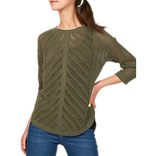 Buy Fat Face Millie Mesh Crew Neck Jumper Online at johnlewis.com