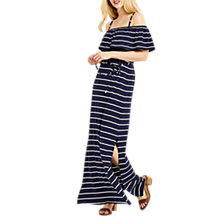Buy Oasis Stripe Frill Maxi Dress, Multi Online at johnlewis.com