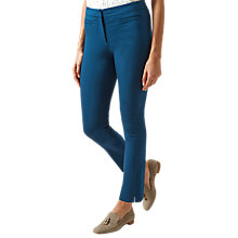 Buy Hobbs Annie Trousers, Steel Blue Online at johnlewis.com