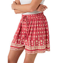 Buy Fat Face Aztec Flippy Shorts, Crimson Online at johnlewis.com