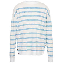 Buy Fat Face Salcombe Stripe Jumper, White Online at johnlewis.com