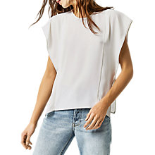 Buy Warehouse Ruffle Sleeve Top Online at johnlewis.com