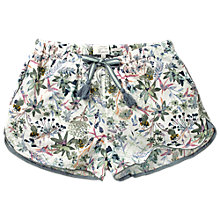 Buy Fat Face Watercolour Bee Racer Shorts, White Online at johnlewis.com