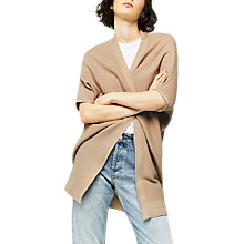 Buy Warehouse Ribbed Longline Cardigan, Stone Online at johnlewis.com