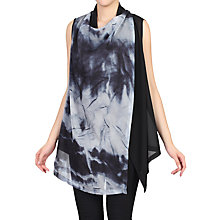 Buy Jolie Moi Tie Die Print Asymmetric Wrap, Black Online at johnlewis.com