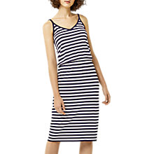 Buy Warehouse Striped Camisole Midi Dress, Blue Online at johnlewis.com