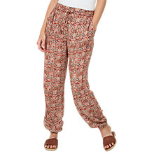Buy Fat Face Indian Summer Printed Trousers, Rustic Red Online at johnlewis.com