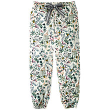 Buy Fat Face Watercolour Bee Cuffed Pyjama Bottoms, White/Multi Online at johnlewis.com