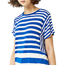 Buy Warehouse Stripe Panel Cutabout T-Shirt Online at johnlewis.com