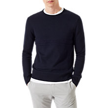 Buy Jigsaw Raised Stripe Merino Jumper, Navy Online at johnlewis.com