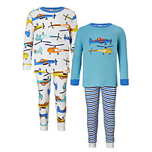 Buy John Lewis Children's Helicopter and Planes Pyjamas, Pack of 2, Multi Online at johnlewis.com