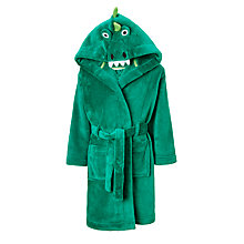 Buy John Lewis Children's Crocodile Robe, Green Online at johnlewis.com