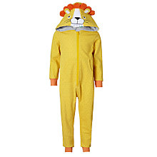 Buy John Lewis Children's Lion Onesie, Yellow Online at johnlewis.com