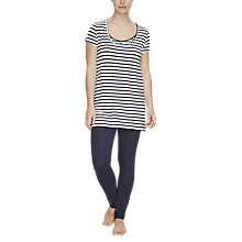 Buy Mamalicious Petrine Nell Maternity Nursing Pyjamas, Navy/White Online at johnlewis.com