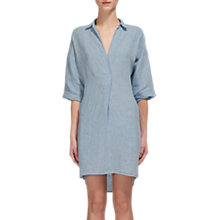 Buy Whistles Lola Linen Dress, Blue Online at johnlewis.com