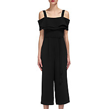Buy Whistles Emmalie Frill Jumpsuit, Black Online at johnlewis.com