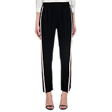 Buy Whistles Side Stripe Popper Trousers, Black Online at johnlewis.com