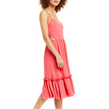 Buy Oasis Cutout Side Midi Dress, Mid Pink Online at johnlewis.com