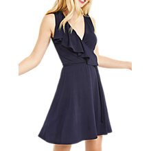 Buy Oasis Ruffle Wrap Dress, Navy Online at johnlewis.com