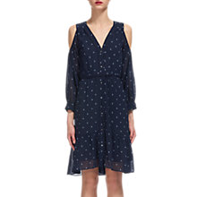 Buy Whistles Fleur De Lis Print Dress, Navy/Multi Online at johnlewis.com