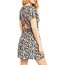 Buy Oasis Ditsy Tie Front Playsuit, Multi Online at johnlewis.com