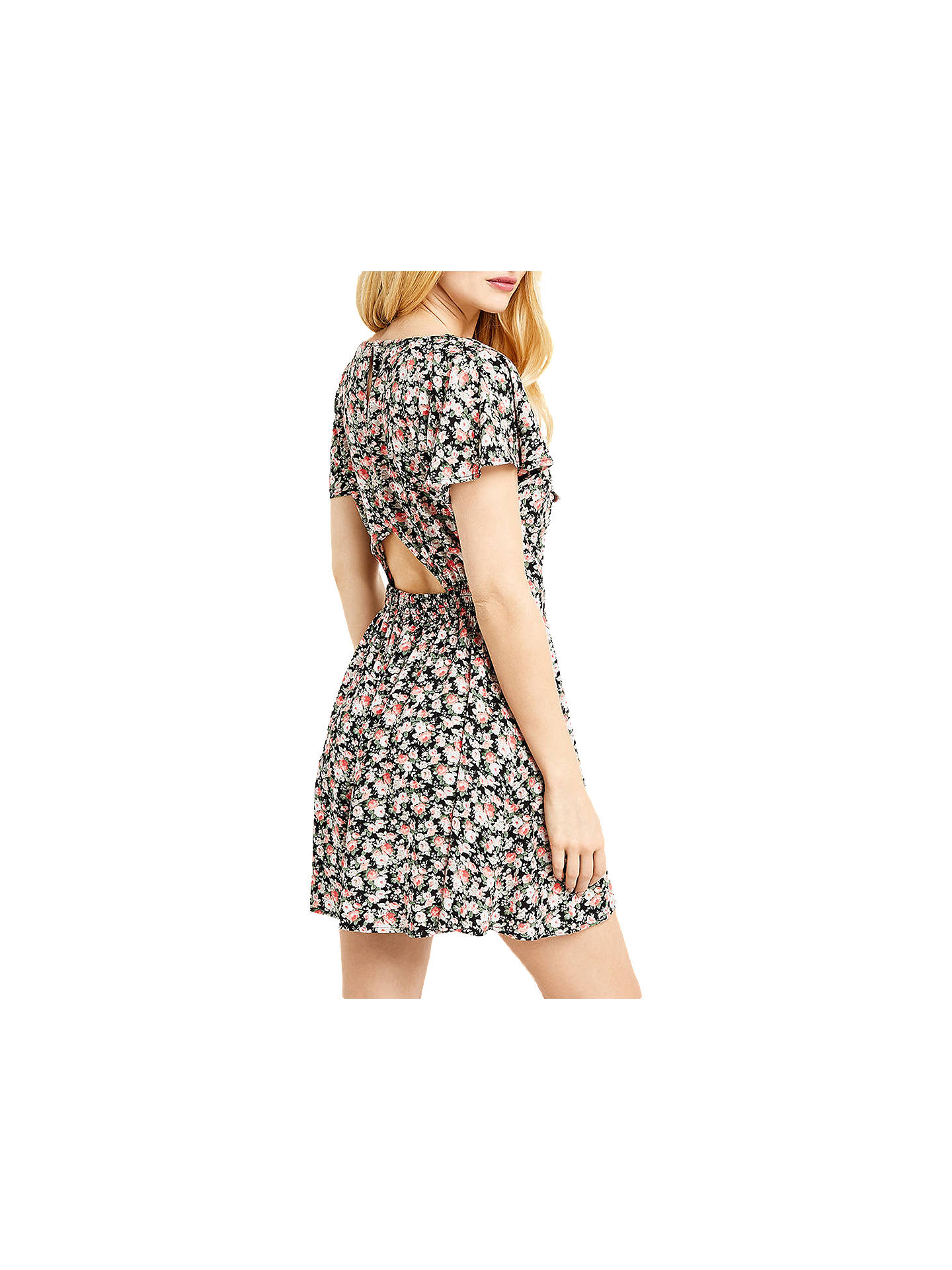 BuyOasis Ditsy Tie Front Playsuit, Multi, 6 Online at johnlewis.com