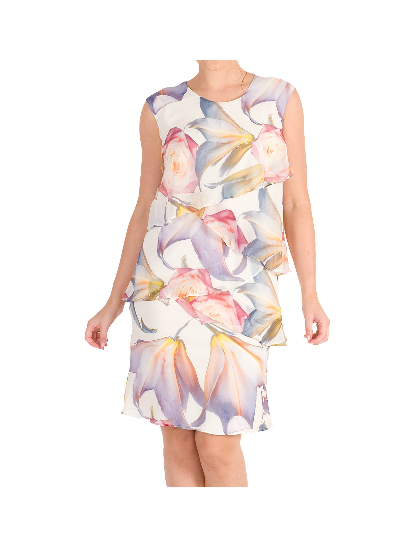c86d8d988c1f Buy Chesca Print Layered Chiffon Dress, Multi, 12 Online at johnlewis.com  ...