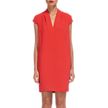 Buy Whistles Paige V-Neck Dress, Coral Online at johnlewis.com
