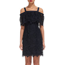 Buy Whistles Faith Lace Cold Shoulder Dress, Blue Online at johnlewis.com