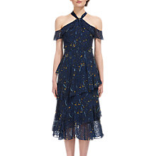 Buy Whistles Wheatsheaf Cold Shoulder Dress, Navy Online at johnlewis.com